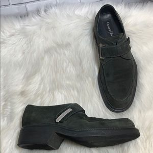 Cesare Paciotti Black Suede Slip On Shoes Size 9.5